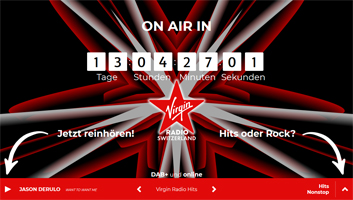 virgin radio switzerland hinweis sendestart